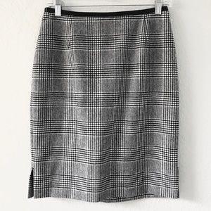 CLASSIQUES ENTIER Glen Plaid Pencil Skirt Sz 8 P